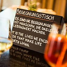 Begegnungstisch - MEET EAT DRINK TALK